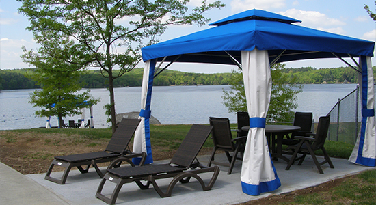 Cabana by the Lake